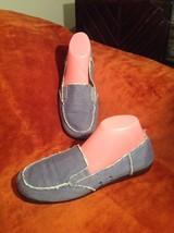 Aerosoles So Soft Women's 9M Sure Grip Denim Canvas Fabric Loafers Flats Shoes - $29.69