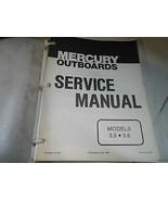 Mercury Servizio Negozio Riparazione Manuale 3.5 3.6 90-43183 OEM Barca - $13.53