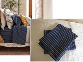 A pair of Ralph Lauren Rue Vaneau Wendell Stripe Standard Pillowcases, N... - $28.71