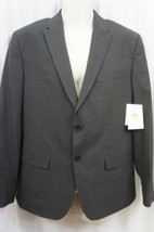 Calvin Klein Mens Sport Jacket Sz M Short Gunmetal Heather Grey Business... - $79.17