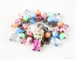 Sunny Charm Bracelet, Toriko, Anime Jewelry, Otaku Gifts, Pastel Colors - $42.00