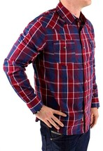 Levi's Men's Long Sleeve Button Up Casual Dress Shirt Red 3LYlW0042 image 2