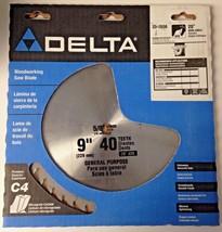 "Delta 35-7656 9"" x 40 Teeth ATB General Purpose Woodworking Saw Blade USA - $27.72"