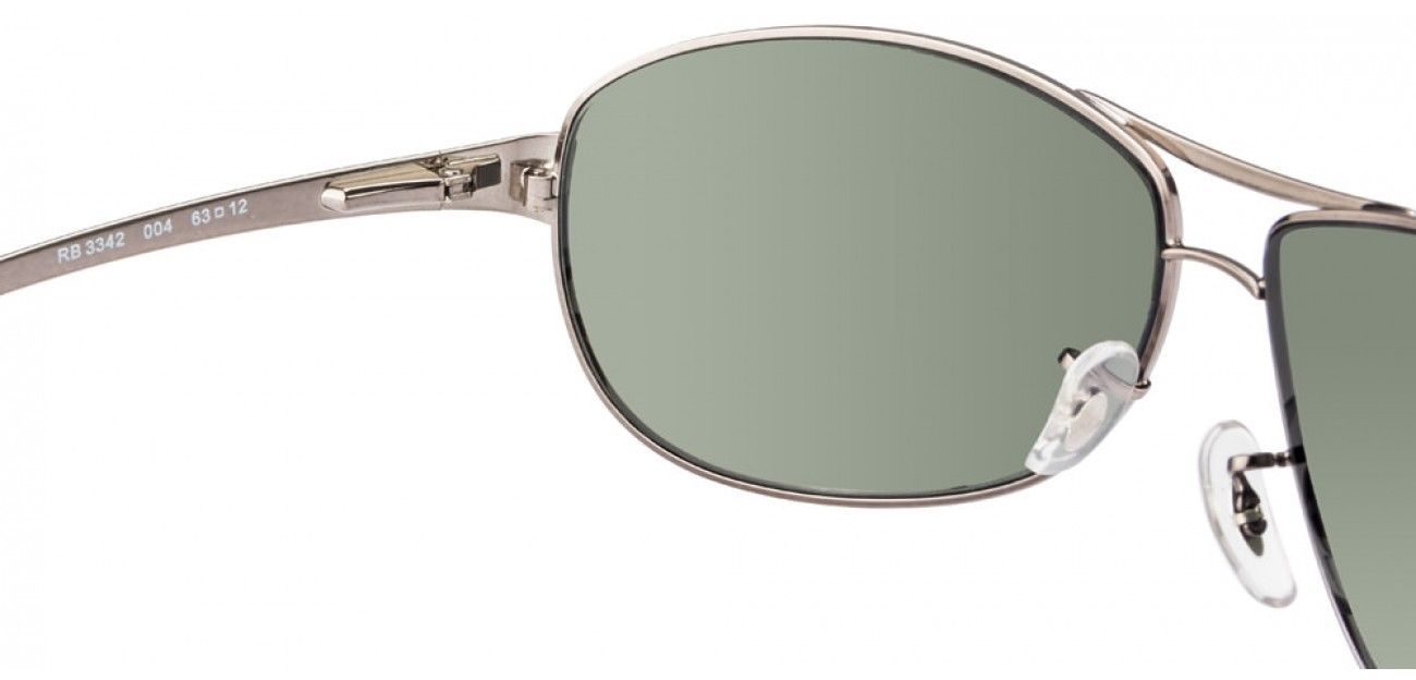 Nuevo Ray-Ban Warrior RB3342 004 Metalizado con / G-15 Verde Lentes 63mm
