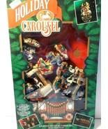 Mr Christmas Holiday Carousel plays 21 Christmas carols, lights up Origi... - $48.36