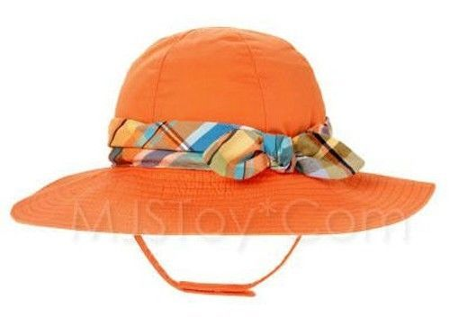 Primary image for NWT Gymboree Orange Lily Banded Plaid Sunhat Beach Hat