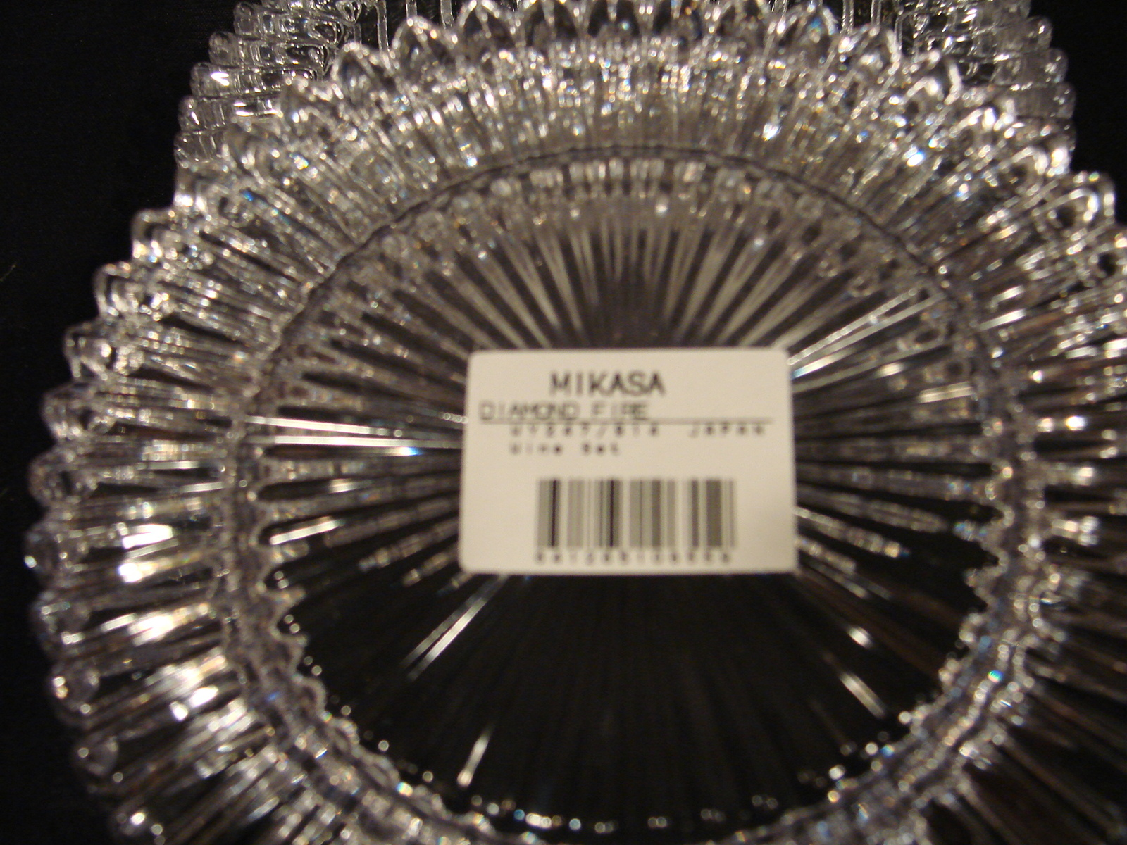 Matching Pair of Crystal Wine Coasters Diamond Fire by Mikasa image 5