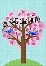 pepita Birds Singing Tree Needlepoint Canvas - $50.00