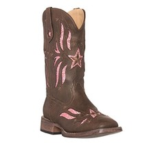 Children Western Kids Cowboy Boot,Brown,7 M US Toddler - $86.46
