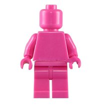 Rosy Pink Limited Supplies Blank Unprinted Pure Color Lego Toys Minifigure - $3.25