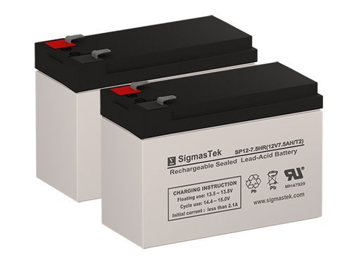 Rad2Go Leopard Shark E5 12 Volt 7.5 AmpH Replacement Scooter Batteries - Set of  - $30.39