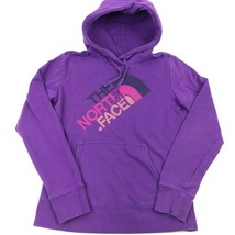 THE NORTH FACE Sweatshirt PULLOVER Purple HOODIE Small Neon Half Dome St... - $21.04