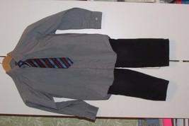 BOY'S CLOTHES: 1 GRAY SHIRT, 1 PR PANTS, 1 CLIP ON TIE (D-G) - $9.50