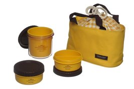Lock & Lock Multi Round Bento Lunch Box Set with 3 Containers + Bag (Yellow) - $29.69