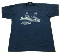 VINTAGE Hilma The Hooker Shirt Size Large L Blue Short Sleeve Screen Sta... - $33.03