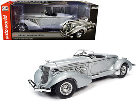 1935 Auburn 851 Speedster Haze Gray 1/18 Diecast Model Car by Autoworld - $151.60