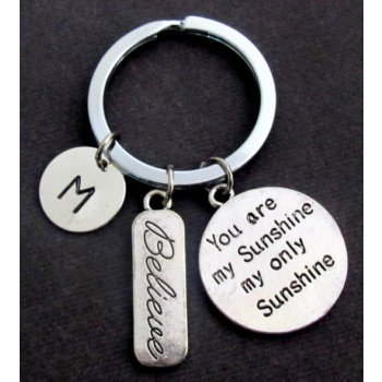 Primary image for You are my Sunshine my only Sunshine Personalized Key Chain,Believe Charm