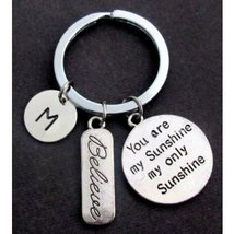 You are my Sunshine my only Sunshine Personalized Key Chain,Believe Charm - $12.00