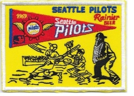 Beer Baseball Seattle Pilots & Rainier Beer 1962 American League Promo Patch  3. - $10.99