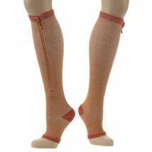 Copper Support Zip Socks Regular Calf SMALL/MEDIUM - LARGE/XLARGE - $7.97