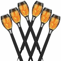 SOLATINO Solar Torch Light with Flickering Flame 6 Pack Landscape Decora... - $62.99