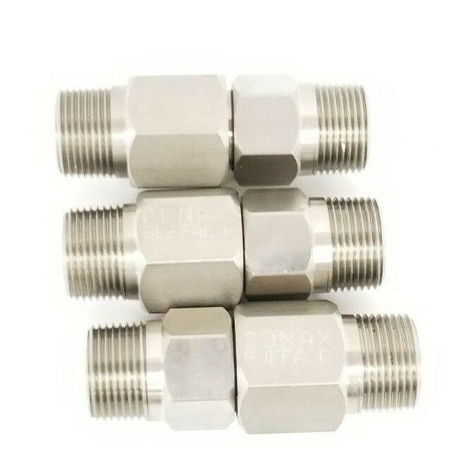 LOT OF 3 NEW CONAX BUFFALO 709047 LYOPHILIZER CONNECTORS 1/2'' IN ID 1'' IN. OD
