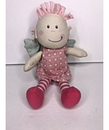 """Haba Cloth Doll Wings Angel Pink Stripes Dots 9"""" Plush Soft Baby Toy - $28.93"""