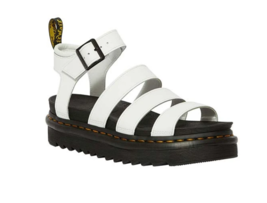 Dr. Martens Blaire Women Hydro Leather Gladiator White Fashion Sandals 2... - $151.99