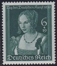 1939 Durer Venetian Woman Germany Postage Stamp Catalog Number B146 MNH