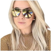 Celine Unisex Sunglasses Cl41391 J5G/MV Gold/Bronze Lens Aviator Authentic - $193.03