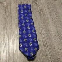 VAN HEUSEN  SIlk Tie Men's  Blue Golf Necktie - $12.86