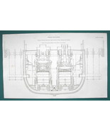 STEAM ENGINE for Steamer Britannia & Acadia 240 HP - c. 1835 Fine Qualit... - $19.89