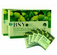 BSY Noni Black Hair Magic Color Dye Shampoo 100% Herbal Essence 2 Box - 40 pack  - $52.00