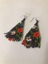 Floral  OOAK Mid Length native american jewelry beaded earrings nEW - €17,85 EUR