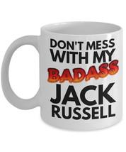 """Jack Russell Mug """"Badass Jack Russell Terrier Coffee Mug"""" Jack Russel Mu... - $14.95"""