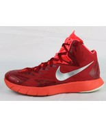 Nike Lunarlon men's hyper quickness high top basketball red size US 7 - $31.89