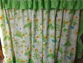 Vintage Disney Winnie Pooh Sears Perma Prest 100 Acre 3 Piece Curtain Panels Usa - $59.35