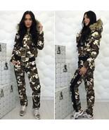 Winter Sport Suit Set Ski Jacket Pants Man Woman Tracksuit Camouflage St... - $220.00