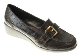 Karen Scott Womens Brown Patent Wedge Loafers Driving Shoes Size 7 - $24.74