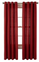 """JCP Home Grommet Curtain Panel Cotton Classics 50"""" x 84"""" Rustic Red - $18.90"""