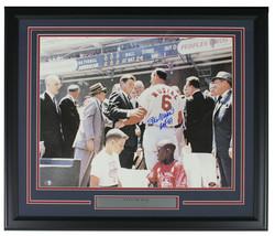 Stan Musial Signed Framed STL Cardinals 16x20 Photo W/JFK HOF 69 SI+Musi... - $281.25