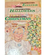 Celebrating Christmas Halloween Easter Holiday Library Book Lot 3 Hardcover - $19.78