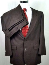 Marc Jeffries Suit Size 43 Long 38 x 27 Two Button Brown Lord Model 100%... - $54.40