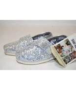 Toms Original Toddler 007013D11-SILVER Glitter Adjustable Slip on Shoes ... - $26.68+
