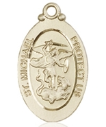 AIR FORCE MEDAL - 14KT Gold St. Michael the Archangel Medal with No Chain  - $1,028.99