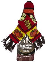 Bundle Up Festive Fall Bottle Beanie & Scarf Set (Red) - $5.89