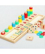 Toys Wooden Education Teaching Math Montessori Materials Learning Count ... - $26.59