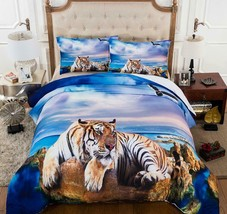 3D Blue Sea Animal Tiger KEP18 Bed Pillowcases Quilt Duvet Cover Kay - $67.90+