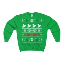 snowmobile snowmobiler ugly christmas sweatshirt-xmas - $29.95+