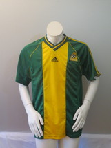 Team Australia Soccer Jersey - 1998 Home Jersey By Adidas - Men's Large  - £57.30 GBP